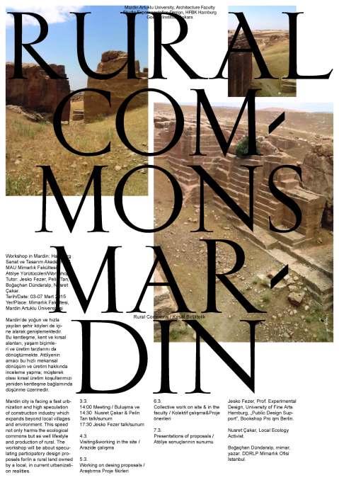 Rural Commons Mardin Poster (1)