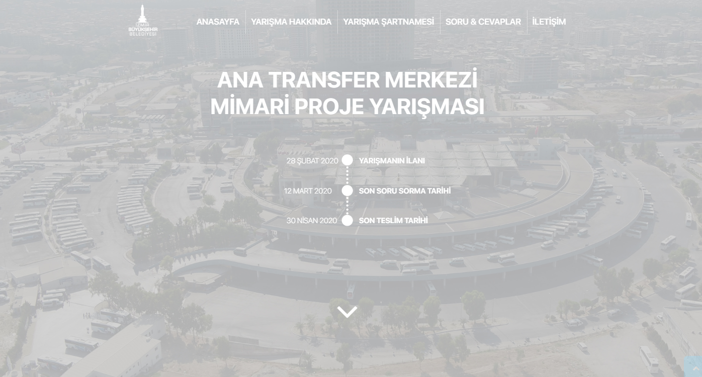 İzmir Büyükşehir Belediyesi Şehirlerarası Otobüs Terminali Binası Ulusal Mimari Proje Yarışması